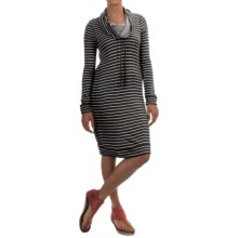 Tommy Bahama Beachwood Funnel Neck Reversible Dress - Long Sleeve (For Women) in Noir Heather - Overstock