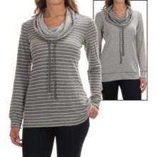 Tommy Bahama Beachwood Striped Reversible Shirt - Funnel Neck, Long Sleeve (For Women) in Gunmetal Heather - Overstock