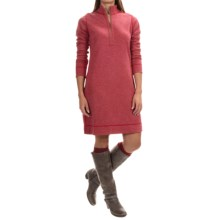 Tommy Bahama Billow Reversible Dress - Zip Neck, Long Sleeve (For Women) in Cerise - Overstock