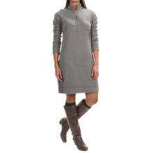 Tommy Bahama Billow Reversible Dress - Zip Neck, Long Sleeve (For Women) in Gunmetal - Overstock