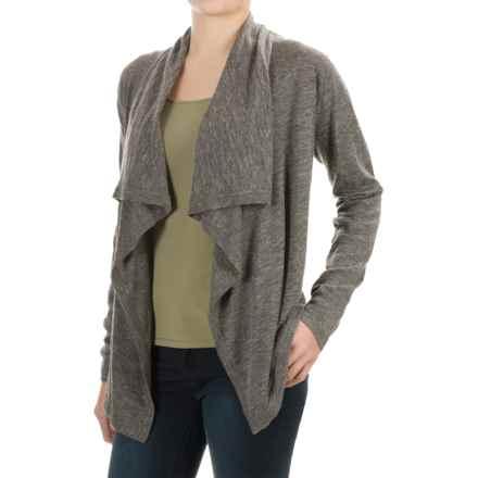 Tommy Bahama Calvert Cardigan Sweater - Wool-Linen (For Women) in Cave Heather - Overstock