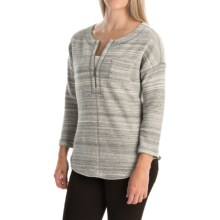 Tommy Bahama Calvert French Terry Shirt - Cotton, Zip Neck, Long Sleeve (For Women) in Fossil Grey Heather - Overstock