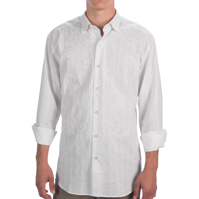Tommy Bahama Casablanco Shirt Cotton Silk Long Sleeve