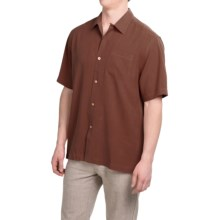 Tommy Bahama Catalina Silk Shirt - Short Sleeve (For Men) in Brown Enough - Closeouts