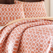 Tommy Bahama Catalina Trellis Quilt Set - Full/Queen in Mango - Closeouts