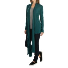 Tommy Bahama Cliff Long Cardigan Jacket (For Women) in Seaway - Overstock