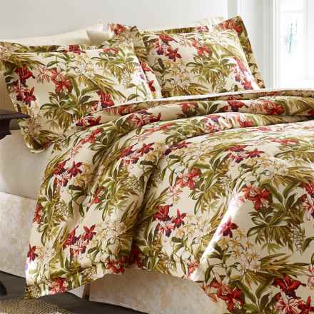 Tommy Bahama Daintree Collection Comforter Set - California King in Ivory/Coral/Yellow - Closeouts