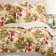 Tommy Bahama Daintree Duvet Set - Full/Queen in Green/Coral/Gold - Closeouts