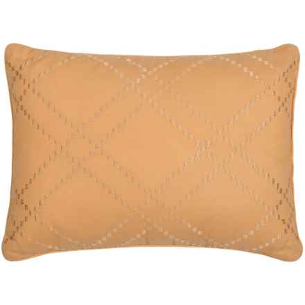 """Tommy Bahama Daintree Embroidered Throw Pillow - 12x16"""" in Ochre Diamond - Closeouts"""