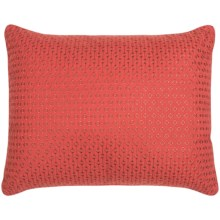 "Tommy Bahama Daintree Embroidered Throw Pillow - 16x20"" in Diamond Red - Closeouts"