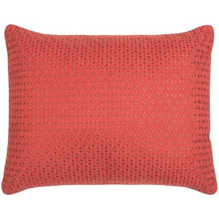 """Tommy Bahama Daintree Embroidered Throw Pillow - 16x20"""" in Diamond Red - Closeouts"""
