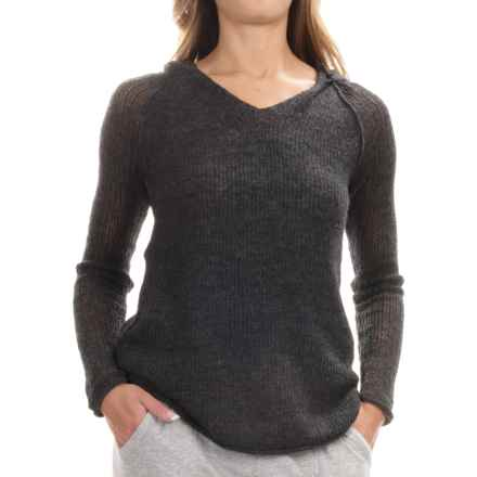 Tommy Bahama Devlin Hoodie - Wool Blend (For Women) in Noir Heather - Overstock
