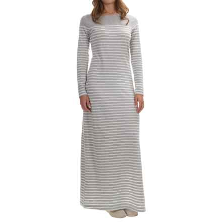 Tommy Bahama Farris Striped Dress - Long Sleeve (For Women) in Fossil Grey Heather - Overstock