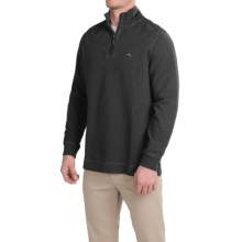 Tommy Bahama Flip Side Shirt - Zip Neck, Long Sleeve (For Men) in Black - Closeouts