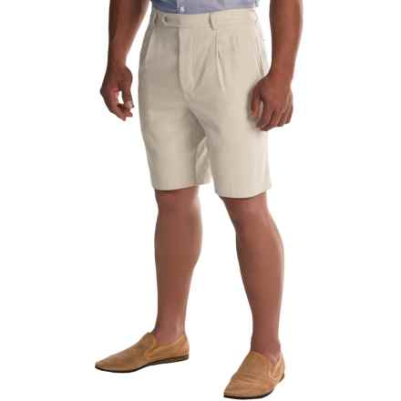 Tommy Bahama Flying Fishbone Silk Shorts (For Men) in Khaki Sands - Closeouts