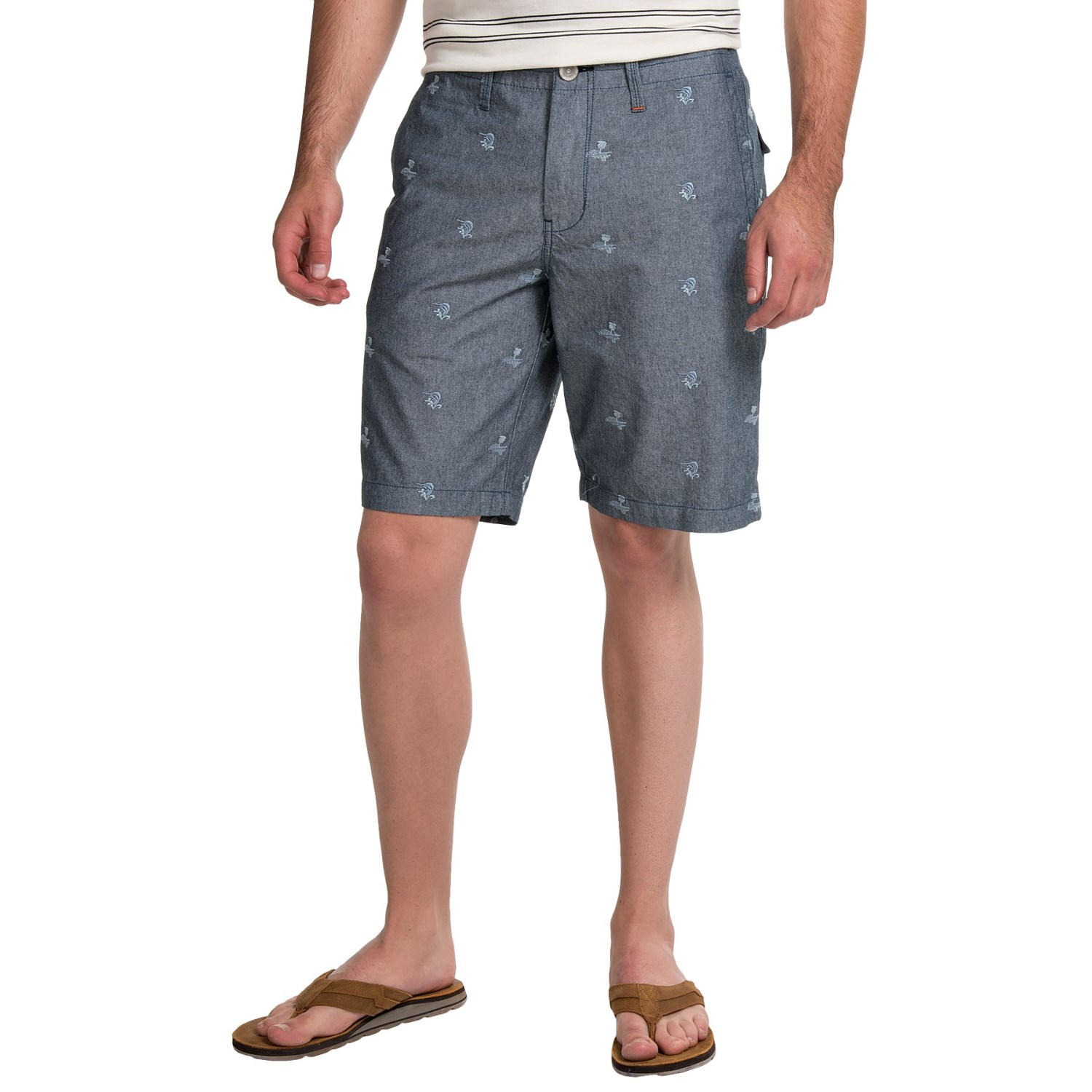 Tommy Bahama Furniture Closeouts #18: Tommy Bahama Forte Dei Marlin Shorts (For Men) In Caspian Sea - Closeouts