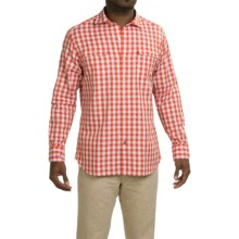 Tommy Bahama Gingham of Thrones Cotton Shirt - Long Sleeve in Firefinch - Closeouts