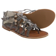 Tommy Bahama Halina Gladiator Sandals - Leather (For Women) in Pewter - Closeouts
