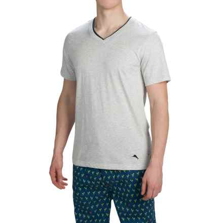 Tommy Bahama Heather Cotton-Modal T-Shirt - Short Sleeve (For Men) in Heather Grey - Closeouts