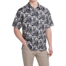 Tommy Bahama Hibiscus Alfresco Silk Shirt - Short Sleeve (For Men and Big Men) in Black - Closeouts