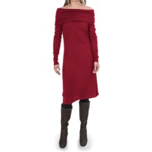 Tommy Bahama Hobart Off-the-Shoulder Dress - Viscose-Wool, Long Sleeve (For Women) in Flare Heather - Closeouts