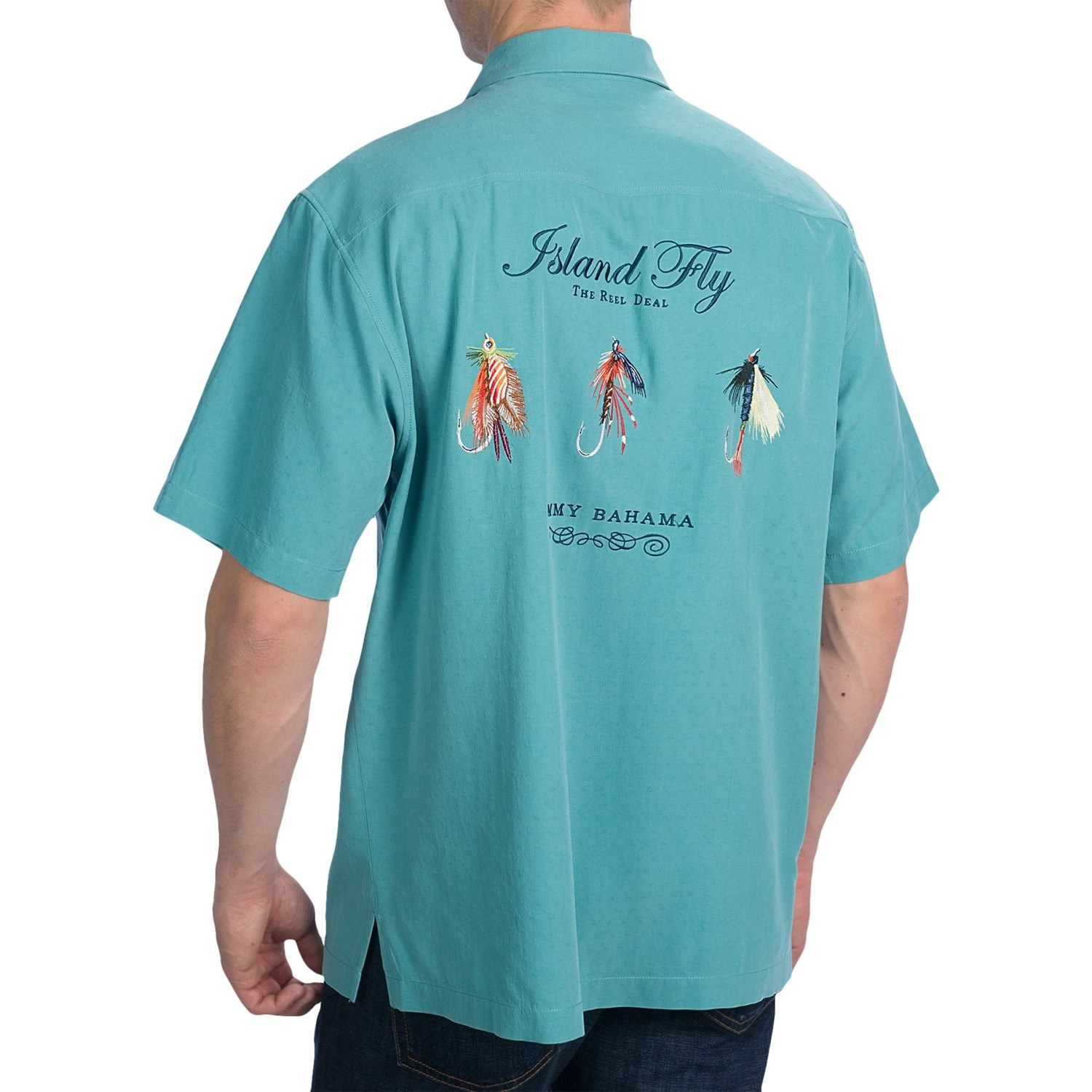 Tommy bahama island fly camp shirt for men 8241k save 33 for Mens short sleeve camp shirts