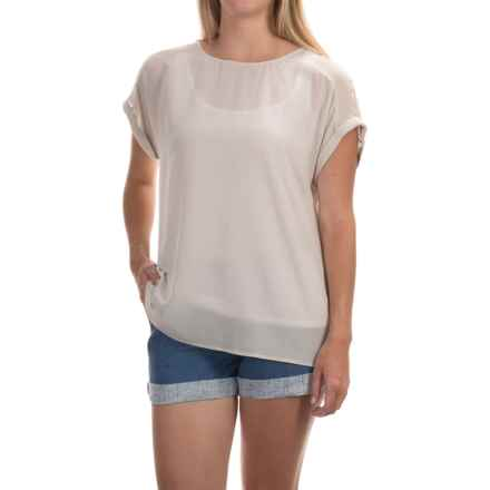 Tommy Bahama Kalena Seamed Shirt - Silk, Short Sleeve (For Women) in Arctic Wind - Overstock