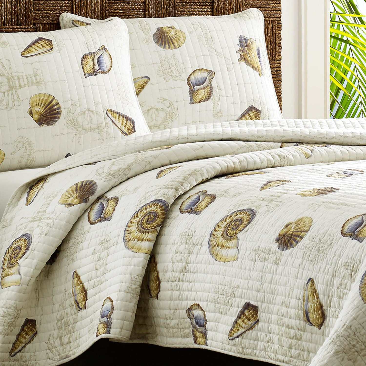 Tommy Bahama Kemps Bay Quilt Set King In Ivory