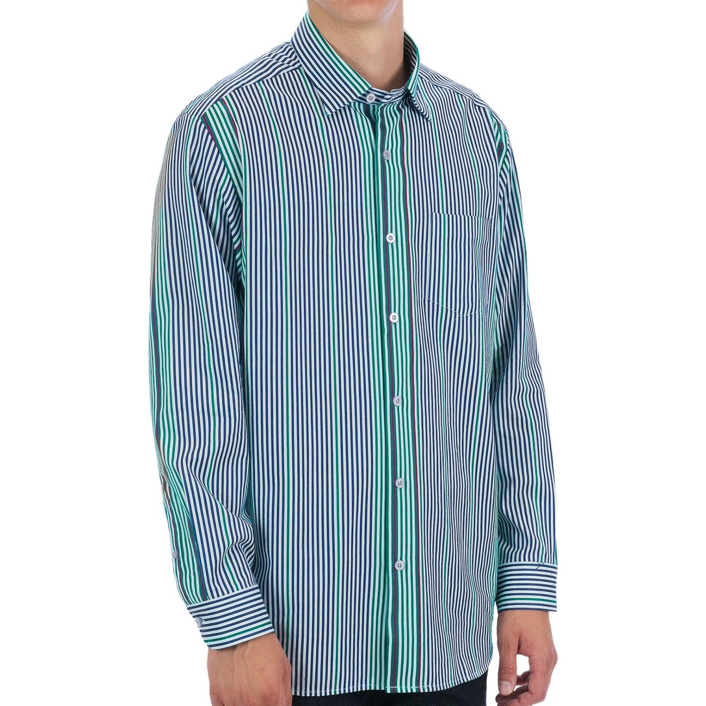 Tommy bahama la habana shirt cotton silk long sleeve for Silk long sleeve shirt