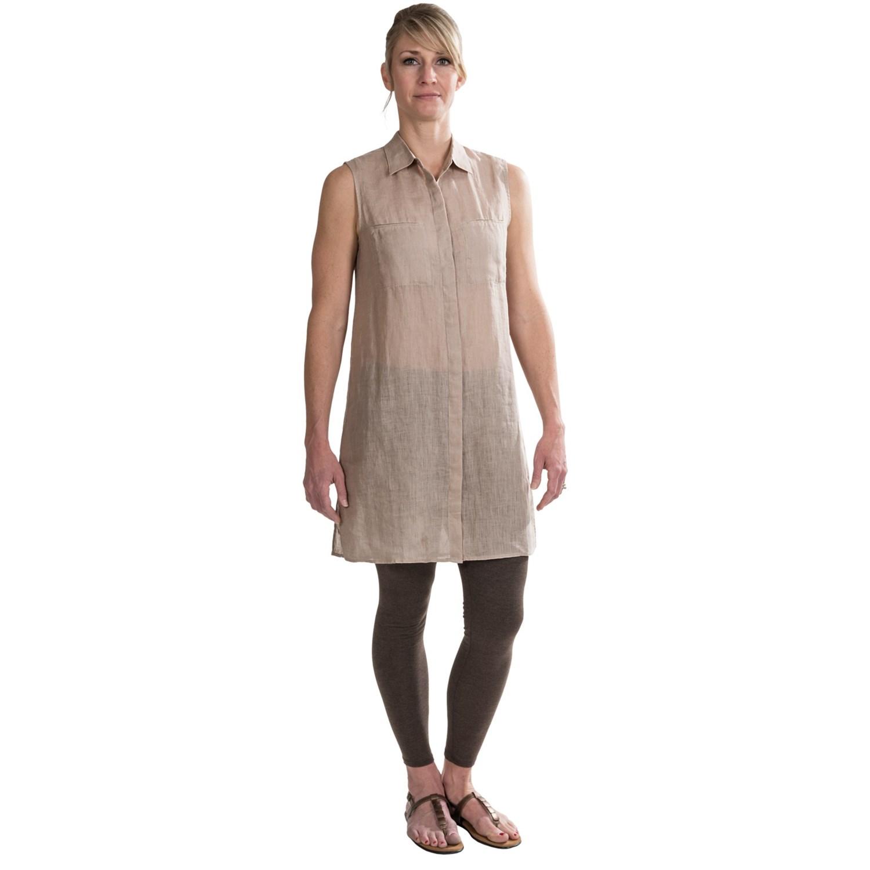 Tommy bahama lani long tunic shirt for women 7377n for Long linen shirts for womens