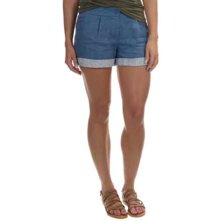 Tommy Bahama Madre Cuffed Shorts (For Women) in Regal Blue - Overstock