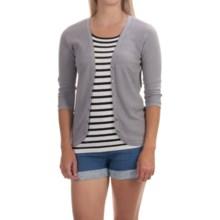 Tommy Bahama Malia Cardigan Sweater - 3/4 Sleeve (For Women) in Harbor Grey - Overstock