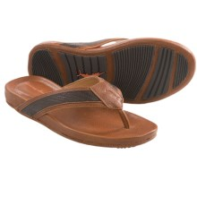 Tommy Bahama Mauki Sandals - Leather (For Men) in Whiskey - Closeouts