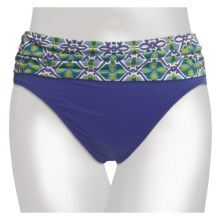 Tommy Bahama Medallion Treasure Bikini Swimsuit Bottoms - High Waist (For Women) in Multi Green & Blue - Closeouts