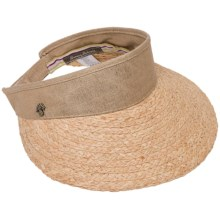 Tommy Bahama Metallic Adjustable Visor - Linen-Raffia (For Women) in Natural - Closeouts
