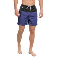 Tommy Bahama Naples Block Party Swim Trunks (For Men) in Deep Water - Closeouts
