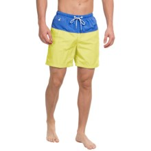 Tommy Bahama Naples Block Party Swim Trunks (For Men) in Lemon Flash - Closeouts