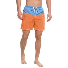 Tommy Bahama Naples Block Party Swim Trunks (For Men) in Light Citrus - Closeouts