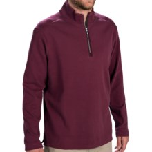 Tommy Bahama New Eversuede Shirt - Zip Neck, Long Sleeve (For Men) in Berry - Closeouts