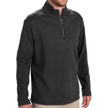 Tommy Bahama New Eversuede Shirt - Zip Neck, Long Sleeve (For Men) in Black - Closeouts