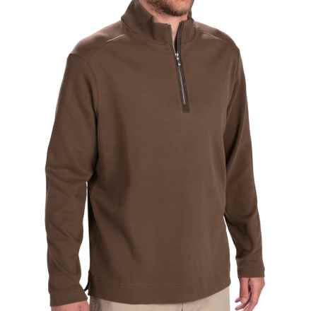 Tommy Bahama New Eversuede Shirt - Zip Neck, Long Sleeve (For Men) in Coffee - Closeouts