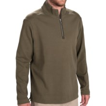 Tommy Bahama New Eversuede Shirt - Zip Neck, Long Sleeve (For Men) in Dark Aspen Green - Closeouts