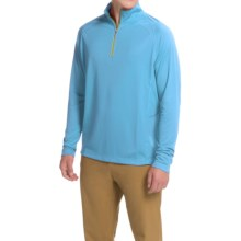Tommy Bahama New Firewall Shirt - Zip Neck, Long Sleeve (For Men) in Blue Topaz - Closeouts