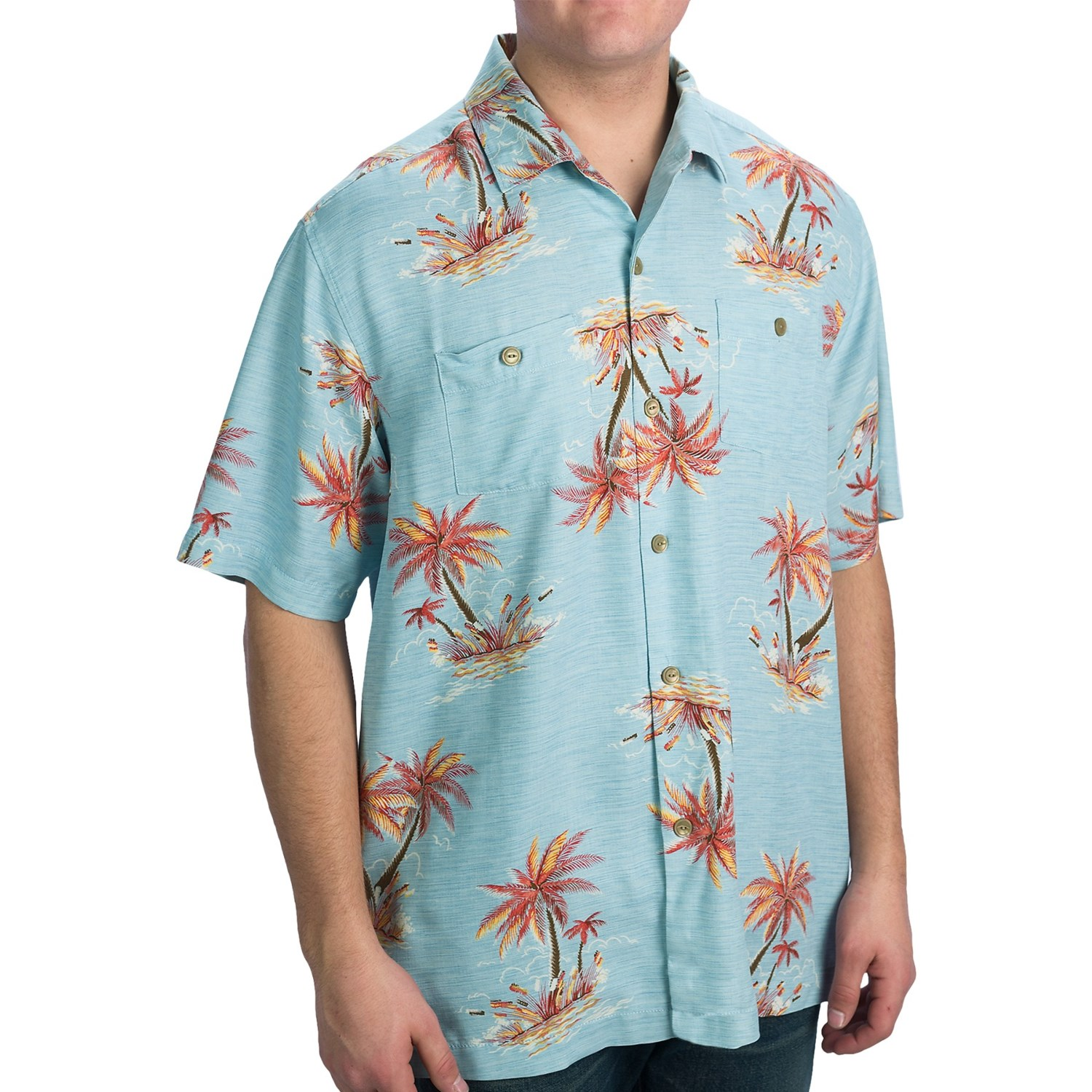 Tommy Bahama Ocho Oasis Shirt Silk Short Sleeve For