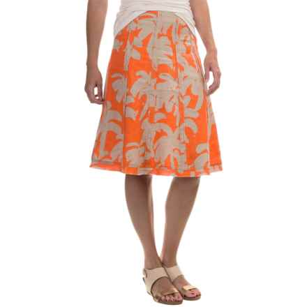 Tommy Bahama Paintbrush Palm Linen Skirt (For Women) in Orange Jupiter - Overstock