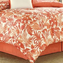 Tommy Bahama Palma Sola Comforter Set - Queen, 230 TC Cotton Sateen in Coral - Closeouts