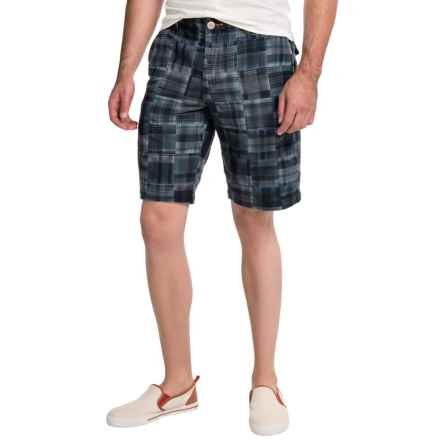 Tommy Bahama Paolo Patchwork Shorts (For Men) in Ink - Closeouts