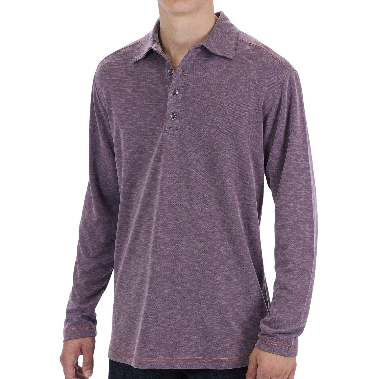 Tommy bahama paradise blend polo shirt long sleeve for for Long sleeve purple polo shirt