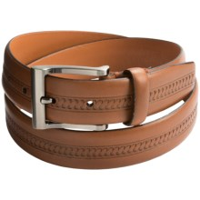 Tommy Bahama Paradise Bound Leather Belt (For Men) in Tan - Closeouts