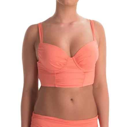 Tommy Bahama Pearl Longline Crop Bikini Top - Underwire (For Women) in Coral - Overstock